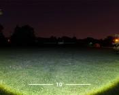 LED Flashlight - NEBO SEVEN-Z with Flex-Power™: Showing Wide Beam Pattern On Field.