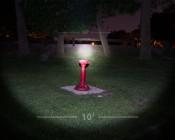 LED Flashlight - NEBO TWYST with Built in 360° COB Work Light: Showing Flashlight Beam Pattern.
