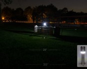LED Flashlight - NEBO TWYST with Built in 360° COB Work Light: Shown On In Lantern Mode.