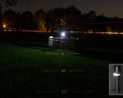 LED Flashlight - NEBO TWYST with Built in 360° COB Work Light: Shown On In Work Lite Mode.