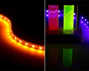 NFLS-x - High Power LED Flexible Light Strip shown in Yellow and UV