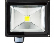 High Power 30W LED Flood Light Fixture with Motion Sensor: Front View