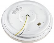 "LED Flush Mount Ceiling Light - 14"" Round 25W LED Flush Mount Ceiling Fixture: Back View"
