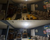"LED Flush Mount Ceiling Light - 14"" Round 25W LED Flush Mount Ceiling Fixture: Customer Installed Before & After"