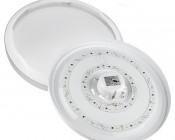 """LED Flush Mount Ceiling Light - 14"""" Round 25W LED Flush Mount Ceiling Fixture- Twist Off Lens To Access Mounting Holes"""
