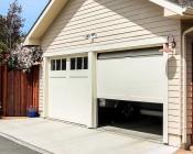 LED Motion Sensor Light - 2 Head Security Light - 24W: Installed Above Garage, Use Sealant to Weatherproof