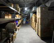 50W Low Bay LED Light Fixture - Industrial LED Light - 4' Long: Installed In Warehouse Aisle.