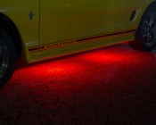 LED Ground Effect Lighting Kit - 8 LED Light Modules: Shown In Red.