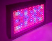LED Grow Light - 432W Rectangular Panel Plant Grow Lamp, 7-Band Spectrum: Turned On Table Showing Beam Pattern