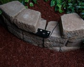 "LED Hardscape Light - 6""  Deck / Step and Landscape Retaining Wall Light with Mortar Mounting Plate: Image Of LED Showing How It is Installed"