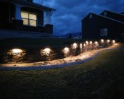 "LED Hardscape Light - 6""  Deck / Step and Landscape Retaining Wall Light with Mortar Mounting Plate: Customer Photo"