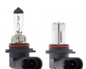 HB4 LED Bulb - 1 x 1 Watt LED Daytime Running Light with Incandescent for Comparison