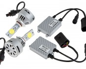LED Headlight Kit - 9005 LED Headlight Bulbs Conversion Kit: All Included Parts