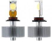 LED Headlight Kit - HB4 (9006) LED Headlight Bulbs Conversion Kit: Front & Profile View
