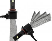 LED Headlight Kit - 9005 LED Headlight Bulbs Conversion Kit with Flexible Tinned Copper Braid