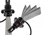 LED Headlight Kit - H13 LED Headlight Bulbs Conversion Kit with Flexible Tinned Copper Braid