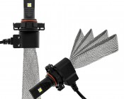 LED Headlight Kit - H16 LED Headlight Bulbs Conversion Kit with Flexible Tinned Copper Braid