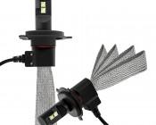 LED Headlight Kit - H4 LED Headlight Bulbs Conversion Kit with Flexible Tinned Copper Braid