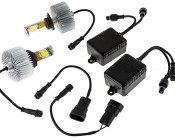 LED Headlight Kit - H10 LED Headlight Bulbs Conversion Kit: All Included Parts