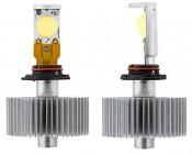 LED Headlight Kit - H10 LED Headlight Bulbs Conversion Kit: Front & Profile View