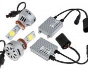 LED Headlight Kit - H11 LED Headlight Bulbs Conversion Kit: All Included Parts
