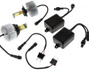 LED Headlight Kit - H4 LED Headlight Bulbs Conversion Kit: All Included Parts
