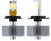 LED Headlight Kit - H4 LED Headlight Bulbs Conversion Kit: Front & Profile View