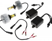 LED Headlight Kit - H7 LED Headlight Bulbs Conversion Kit: All Included Parts