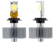 LED Headlight Kit - H7 LED Headlight Bulbs Conversion Kit: Front & Profile View