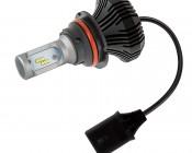 Motorcycle LED Headlight Conversion Kit - 9007 LED Fanless Headlight Conversion Kit with Compact Heat Sink