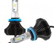 LED Headlight Kit - H11 LED Fanless Headlight Conversion Kit with Compact Heat Sink