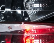 LED Hideaway Strobe Lights - Mini Emergency Vehicle LED Warning Lights: Shown On Installed In Vehicle Headlight (Red Strobe)