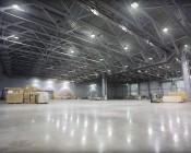 Modular LED High Bay Light lighting warehouse.
