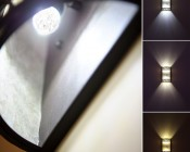 E12-xWHP3 LED bulb in light fixture <br> Cool White (top), Natural White (middle), Warm White (bottom)