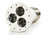 White 3x1W LED Luxeon E27 Bulb