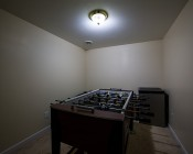 Smartphone or Tablet WiFi Compatible E27 RGB LED, 9W w/ RF Touch Color Remote: Installed In Game Room