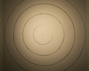 GU10-WW7W-38: 38° beam pattern at 8ft from wall.  Each circle measures 1ft.