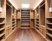 LED Panel Light Fixture In Closet Space