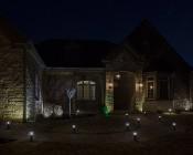 LED Landscape Path Lights - Mini Bollard - 2 Watt: Showing Lights Installed Along Path- Natural White