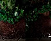 LED Landscape Path Lights - Mini Bollard - 2 Watt - Aluminum Housing: Showing 4 Watt Vs. 2 Watt Versions.