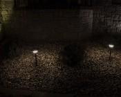LED Landscape Path Lights - Single Tier - 2 Watt: Showing Lights Installed Along Path- Natural White