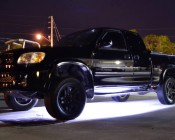 Under Glow - Color Changing Weatherproof RGB LED Glow Strip Accent Lighting Kit: Installed Under Truck