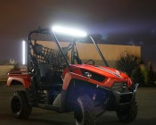 "24"" Compact Off Road LED Light Bar - 63W Installed on UTV"
