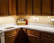 Universal LED Lighting Strip Kit - NFLS-NW165X3-KIT installed  under kitchen cabinets