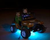 Battery Powered LED Light Strips Kit - Single Color - 2 Portable LED Light Strips Installed On Power Wheel Make Kids Happy