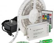 LED Light Strip Full Kit with Multi Color LEDs - LED Tape Light with 9 SMDs/ft., 3 Chip RGB SMD LED 5050