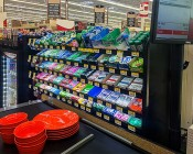 High Power LED Flexible Light Strip - NFLS-x: Installed In Grocery Store Candy & Gum Display At Checkout