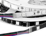 LED Light Strips with Multi Color LEDs - LED Tape Light with 9 SMDs/ft., 3 Chip RGB SMD LED 5050