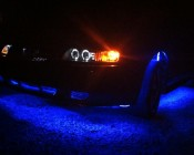 Under Glow - Color Changing Weatherproof RGB LED Glow Strip Accent Lighting Kit: Installed Under Car