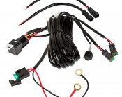 LED Light Wiring Harness with Switch and Relay - Dual Output, DT Connector